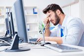 Frustrated young man due to weak internet reception poster
