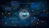 Crm - Customer Relationship Management. Customer Relationship Management Concept. Vector Illustratio poster