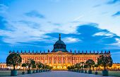 The Neues Palais In Sanssouci Park Of Potsdam, Unesco World Heritage In Brandenburg, Germany poster