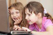 children using computer