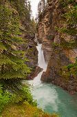 Waterfall At Johnston Canyon