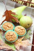homemade muffins with pear - sweet food /shallow DOFF/