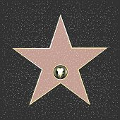 stock photo of terrazzo  - Walk Of Fame Type Star - JPG