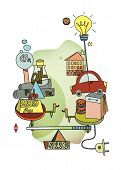 Consumption Or Investment. Longevity And Choice. Scales With Symbols Of Different Principle Of Spend poster