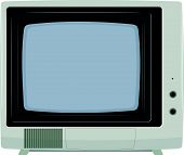 Vector Illustration Of An Old Tv Set With Plastic Housing