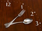 Clock Made Of Spoon And Fork