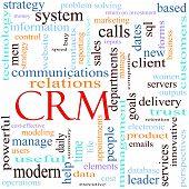 Ilustración del concepto de CRM palabra