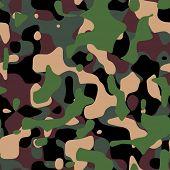 Textura de camuflaje militar en tonos verdes y marrón