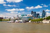 picture of london night  - The City of London skyline in a clear summer day - JPG