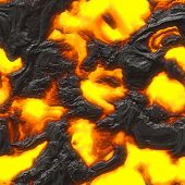 image of magma  - Seamless magma or lava texture with melting rocks and fire - JPG