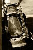 Vintage Lantern in Sepia