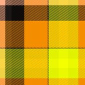 Tartan or plaid seamless texture in yellow and orange shades