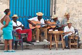 HAVANA-MARCH 25:Street musicians on March 25,2011 in Havana.With Cuba receiving over two million tou