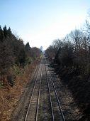Distant Train Tracks