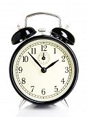 Isolated vintage alarm-clock
