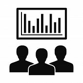 Political Candidate Graph Icon. Simple Illustration Of Political Candidate Graph Icon For Web Design poster