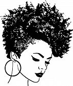 African American Pretty Lady Classy Lady Diva Queen Power Strong Female Woman Praying God Believe poster