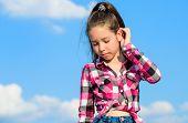 Fashion Model Girl. Stylish Fashionable Kid. Kids Fashion Concept. Kid Girl Checkered Fashionable Sh poster