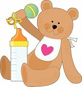 Baby Bottle And Bib