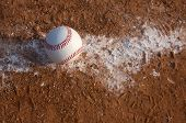 pic of infield  -  Baseball on the Infield Chalk Line with room for copy - JPG