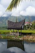image of minangkabau  - House on the lake Samosir island Sumatra Indonesia - JPG