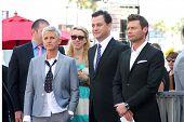 LOS ANGELES - SEP 4:  Ellen DeGeneres, Jimmy Kimmel, Ryan Seacrest at the Hollywood Walk of Fame Cer