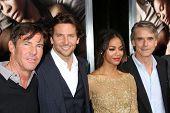 LOS ANGELES - SEP 4:  Dennis Quaid, Bradley Cooper, Zoe Saldana, Jeremy Irons arrives at