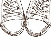 Illustration Of Sneakers - Hand Drawn Style