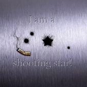 Ilustração humorística de tiro