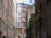 Alley buildings in Seattle, WA