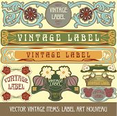 Vector vintage items