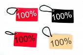 Four Types Of One Hundred Percent Paper Tag