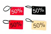 Four Types Of Fifty Percent Paper Tag