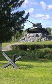 Russian Tank T-34 On A Pedestal