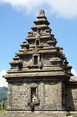 stock photo of arjuna  - Top of temple Arjuna on plateau Dieng Ja - JPG