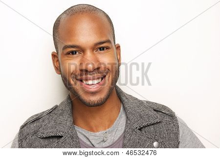 Portrait Of A Handsome Young Man Smiling poster