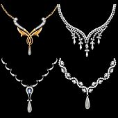 Set Of Necklace Women With Precious Stones