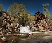 Crystal River and the Lost Horse Mill, or Crystal Mill, in Colorado which used to supply power to th