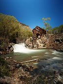 Crystal Mill, or Lost Horse Mill, is an old wooden power house on the Crystal River which had a wate