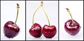 Cherries With Water Drops Set