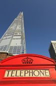 The Shard and phone booth
