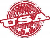 Vintage Made in USA Produkt Markenetikett