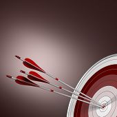 Bull's Eye, Perfect Shot, Business Concept