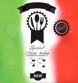 Italian Menu poster
