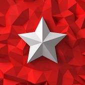 Chrome Star On The Red