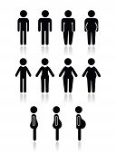 image of skinny fat  - Male and female body types  - JPG
