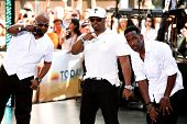 NEW YORK-MAY 31: (L to R) Wanya Morris, Nathan Morris, Shawn Stockman of Boyz II Men perform on NBC'