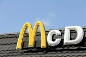 Detail Of The McDonalds Sign