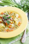 Summer Soup With Green Peas