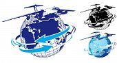 Vector Commercial Freighter As A Logo